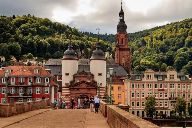 Heidelberg Bridge Neckar Old